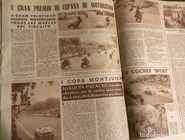 Coleccionismo deportivo: Antiguo periódico marca Athletic club de Bilbao 1954 gran Premio motociclismo España - Foto 7 - 194239247