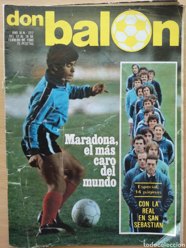 DON BALÓN 227 - MARADONA EL MAS CARO DEL MUNDO ESPECIAL REAL SOCIEDAD 14 PAGINAS (Coleccionismo Deportivo - Revistas y Periódicos - Don Balón)