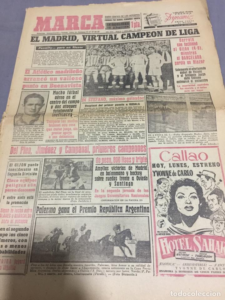 5-4-1954 REAL MADRID CAMPEÓN LIGA (Coleccionismo Deportivo - Revistas y Periódicos - Marca)