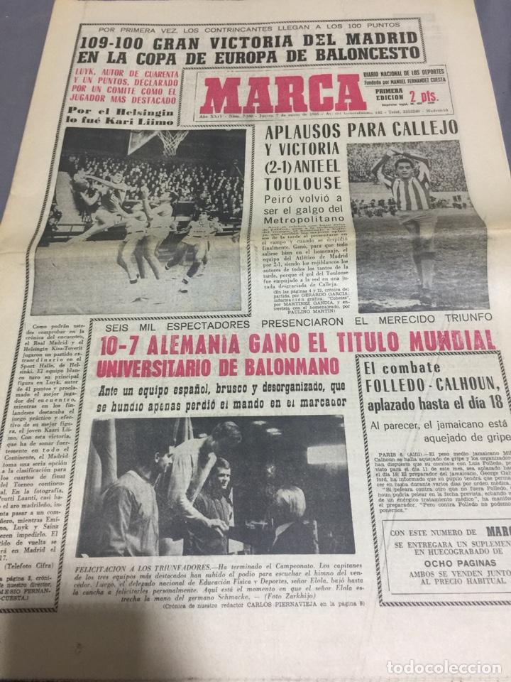 7-1-1965 ATLÉTICO MADRID HOMENAJE A CALLEJO (Coleccionismo Deportivo - Revistas y Periódicos - Marca)