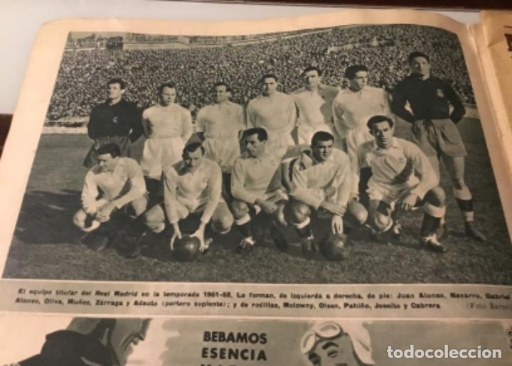 Coleccionismo deportivo: Bodas de oro del Real Madrid 1952 antigua revista marca fútbol - Foto 9 - 180993322