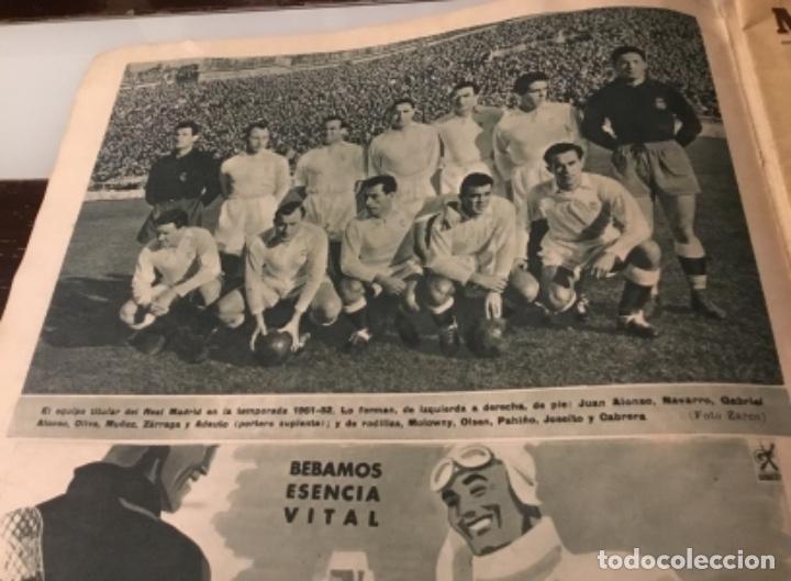 Coleccionismo deportivo: Bodas de oro del Real Madrid 1952 antigua revista marca fútbol - Foto 10 - 180993322
