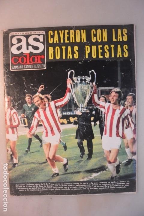 REVISTA AS COLOR Nº 157, 21 MAYO 1974. AT MADRID, CAYERON CON LAS BOTAS PUESTAS. POSTER HAITI (Coleccionismo Deportivo - Revistas y Periódicos - As)