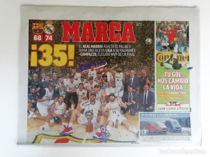 MARCA: REAL MADRID GANA LA LIGA DE BALONCESTO 2019 (Coleccionismo Deportivo - Revistas y Periódicos - Marca)