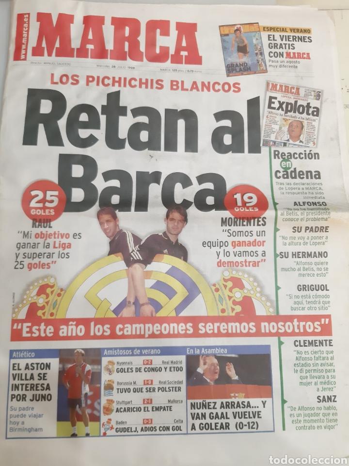 1999 MARCA 28 JULIO PICHICHIS BLANCOS RETAN BARCA (Coleccionismo Deportivo - Revistas y Periódicos - Marca)