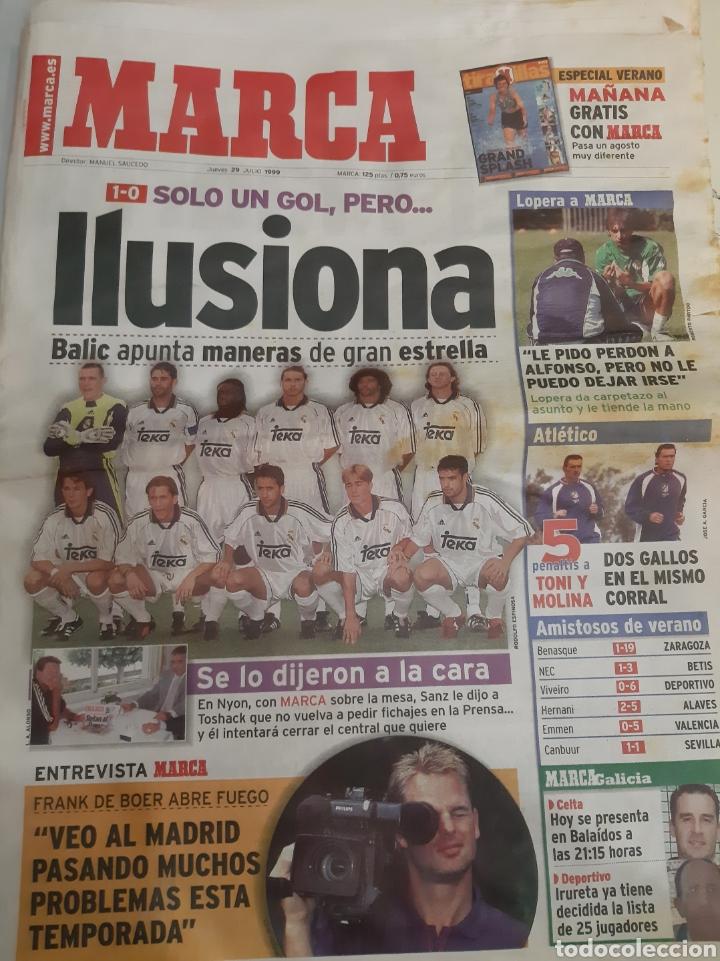 1999 MARCA 29 JULIO. R.MADRID (Coleccionismo Deportivo - Revistas y Periódicos - Marca)