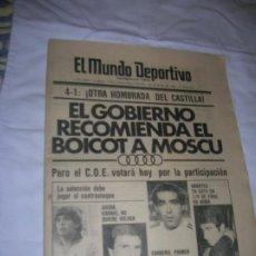 Coleccionismo deportivo: DIARIO MUNDO DEPORTIVO N, 17612 DE MAYO DE 1980. Lote 194712327