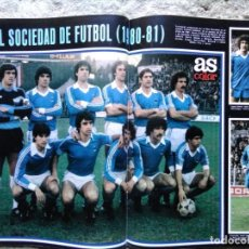 Coleccionismo deportivo: AS COLOR 520 POSTER REAL SOCIEDAD 80-81. Lote 194719603