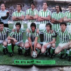 Coleccionismo deportivo: AS COLOR 510 POSTER REAL BETIS BALOMPIÉ 80-81. Lote 194719718
