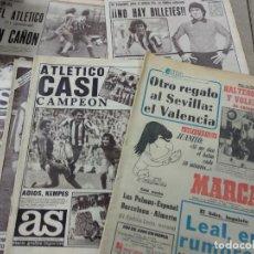 Coleccionismo deportivo: LOTE 5 PERIODICOS AS Y UNO MARCA AÑOS 1981 . Lote 194731493