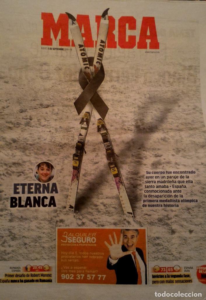 PERIODICO MARCA FALLECE BLANCA FERNANDEZ OCHOA (Coleccionismo Deportivo - Revistas y Periódicos - Marca)