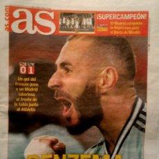 Coleccionismo deportivo: PERIODICO AS REAL MADRID CAMPEON SUPERCOPA ESPAÑA BALONCESTO 2019. Lote 194890865