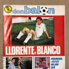 Coleccionismo deportivo: DON BALÓN N° 589 (1987). ARKONADA, PACO LLÓRENTE, RAMÓN (SEVILLA), VALDANO, SABADELL, ESPAÑA-HOLANDA. Lote 194926165
