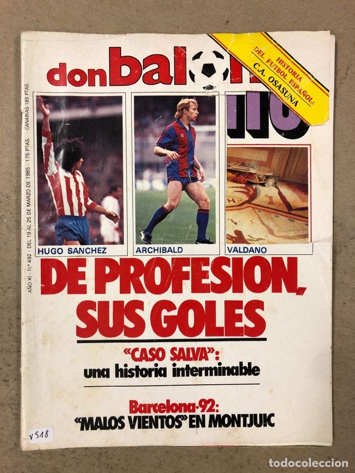 DON BALÓN N° 462 (1985). POSTER ARCHIBALD, ATHLETIC CLUB, N'KONO, SONGO'O, HELENIO HERRERA,.. (Coleccionismo Deportivo - Revistas y Periódicos - Don Balón)