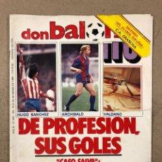 Coleccionismo deportivo: DON BALÓN N° 462 (1985). POSTER ARCHIBALD, ATHLETIC CLUB, N'KONO, SONGO'O, HELENIO HERRERA,... Lote 194926488