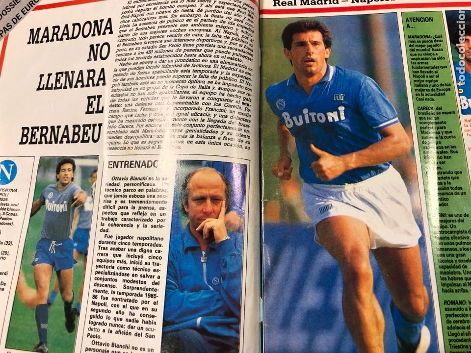 Coleccionismo deportivo: DON BALÓN N° 622 (1987). REAL MADRID - NÁPOLES (MARADONA), REAL SOCIEDAD- SLASK WROCLAW, CELTA - Foto 2 - 194926787
