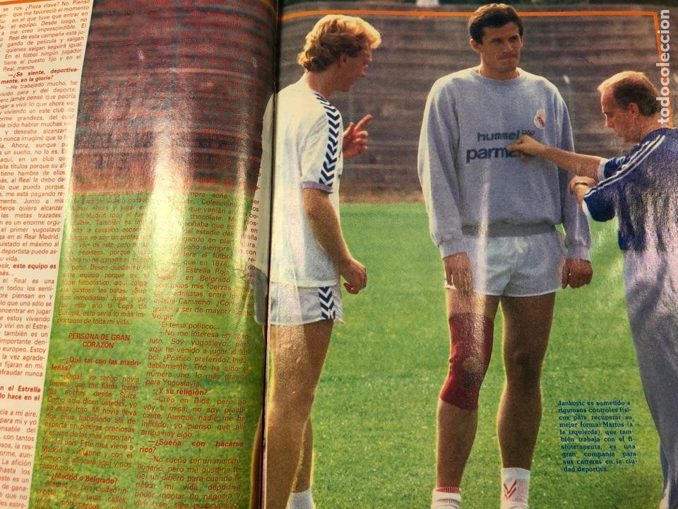 Coleccionismo deportivo: DON BALÓN N° 622 (1987). REAL MADRID - NÁPOLES (MARADONA), REAL SOCIEDAD- SLASK WROCLAW, CELTA - Foto 4 - 194926787