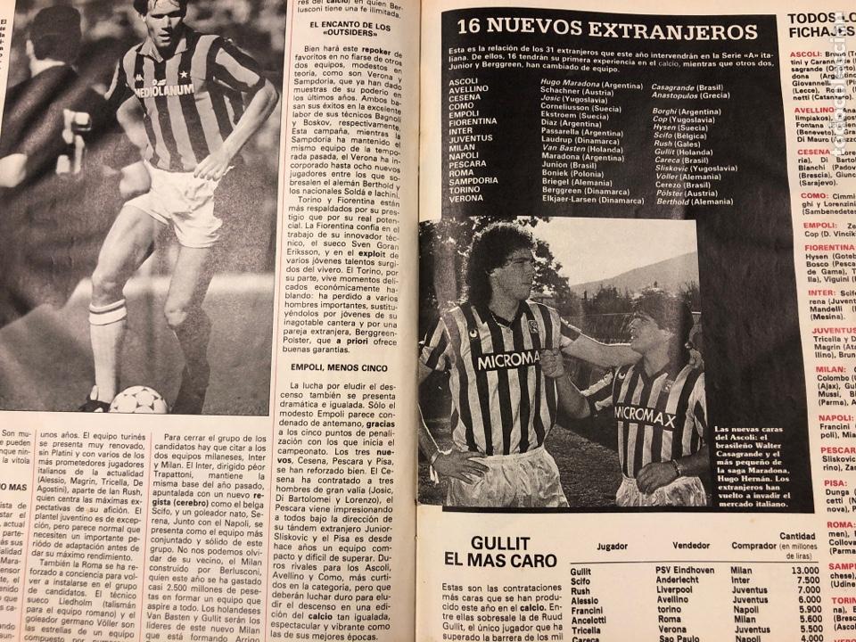 Coleccionismo deportivo: DON BALÓN N° 622 (1987). REAL MADRID - NÁPOLES (MARADONA), REAL SOCIEDAD- SLASK WROCLAW, CELTA - Foto 5 - 194926787