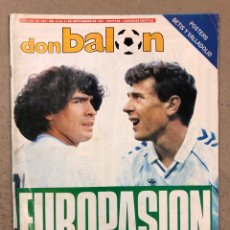 Coleccionismo deportivo: DON BALÓN N° 622 (1987). REAL MADRID - NÁPOLES (MARADONA), REAL SOCIEDAD- SLASK WROCLAW, CELTA. Lote 194926787