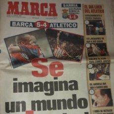 Coleccionismo deportivo: MARCA BARCELONA 5 ATLETICO DE MADRID 4 13 MARZO DE 1997 PANTIC RONALDO COPA DEL REY. Lote 194963095