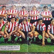 Coleccionismo deportivo: POSTER DEL CLUB DE FUTBOL DEPORTIVO LOGROÑES TEMPORADA 71/72. Lote 194964680