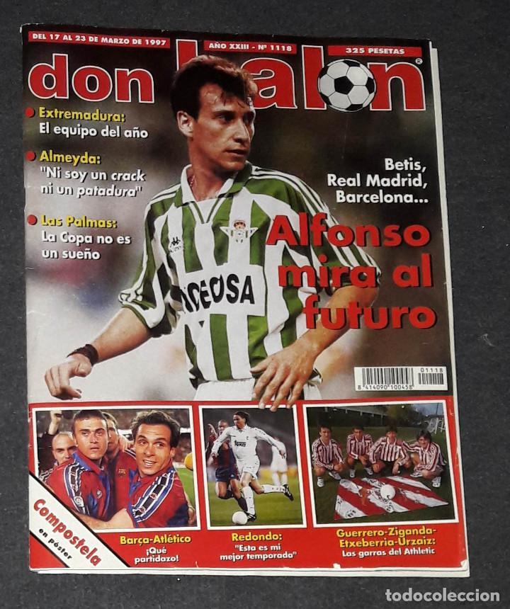 REVISTA DON BALÓN Nº 1118 MARZO 1997 POSTER COMPOSTELA 96-97 (Coleccionismo Deportivo - Revistas y Periódicos - Don Balón)