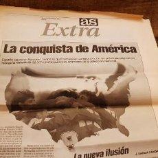 Coleccionismo deportivo: PERIODICO AS 18 NOVIEMBRE 1993 EXTRA MUNDIAL EEUU 1994 CLASIFICACIÓN ESPAÑA DINAMARCA. Lote 195053480