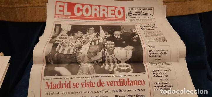 Coleccionismo deportivo: INCREÍBLE LOTE PERIÓDICO (RECORTES) Y SUPLEMENTOS FINAL COPA REY BARCELONA BETIS 28 JUNIO 1997. LEER - Foto 11 - 195055113