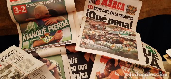 INCREÍBLE LOTE PERIÓDICO (RECORTES) FINAL COPA REY BARCELONA CAMPEÓN BETIS 29 JUNIO 1997. LEER (Coleccionismo Deportivo - Revistas y Periódicos - As)