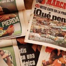 Coleccionismo deportivo: INCREÍBLE LOTE PERIÓDICO (RECORTES) FINAL COPA REY BARCELONA CAMPEÓN BETIS 29 JUNIO 1997. LEER. Lote 195055495