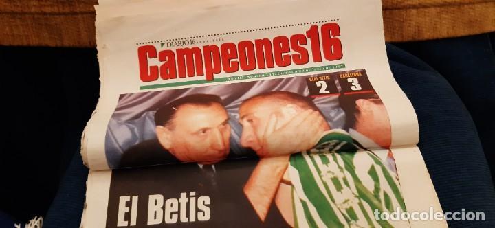 Coleccionismo deportivo: INCREÍBLE LOTE PERIÓDICO (RECORTES) FINAL COPA REY BARCELONA CAMPEÓN BETIS 29 JUNIO 1997. LEER - Foto 4 - 195055495