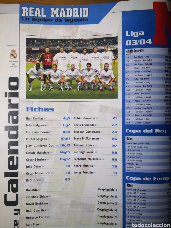 Coleccionismo deportivo: SUPLEMENTO DIARIO MARCA REAL MADRID 2003/2004 UN EQUIPO DE LEYENDA - Foto 2 - 195060017