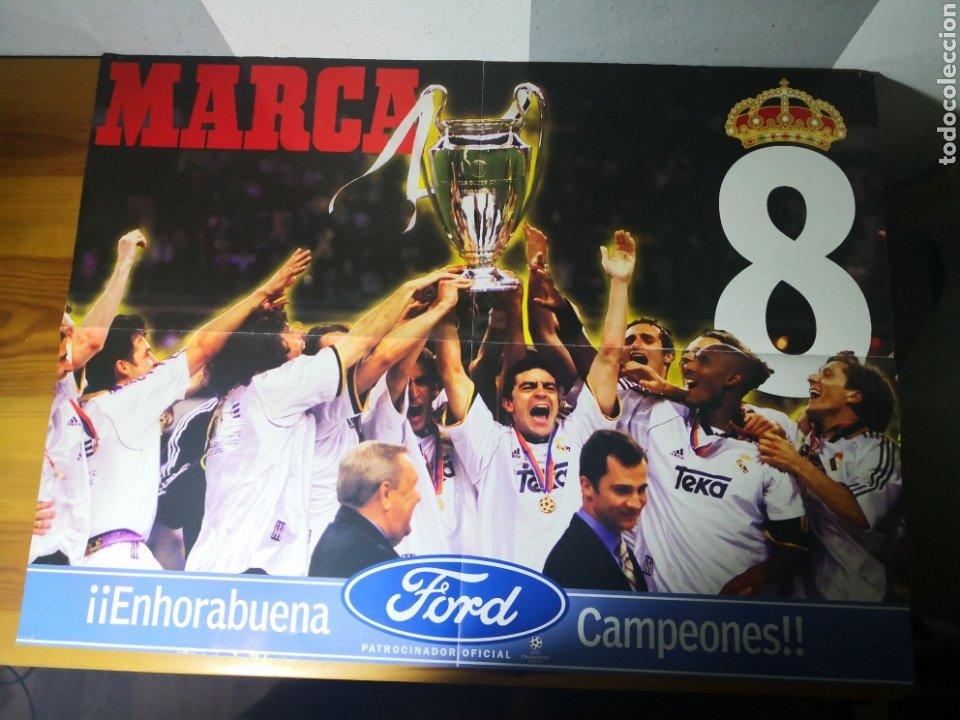 POSTER GIGANTE REAL MADRID CAMPEÓN OCTAVA COPA EUROPA 1999/2000 (Coleccionismo Deportivo - Revistas y Periódicos - Marca)