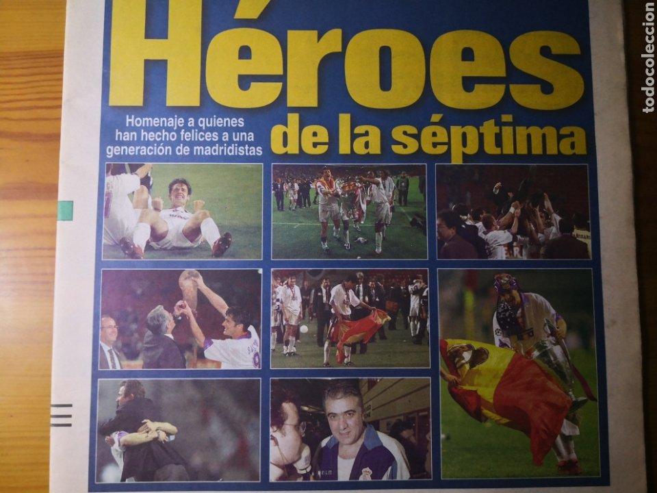 Coleccionismo deportivo: HISTÓRICO DIARIO MARCA HEROES DE LA SÉPTIMA REAL MADRID 21 MAYO 1998 - Foto 3 - 195060181
