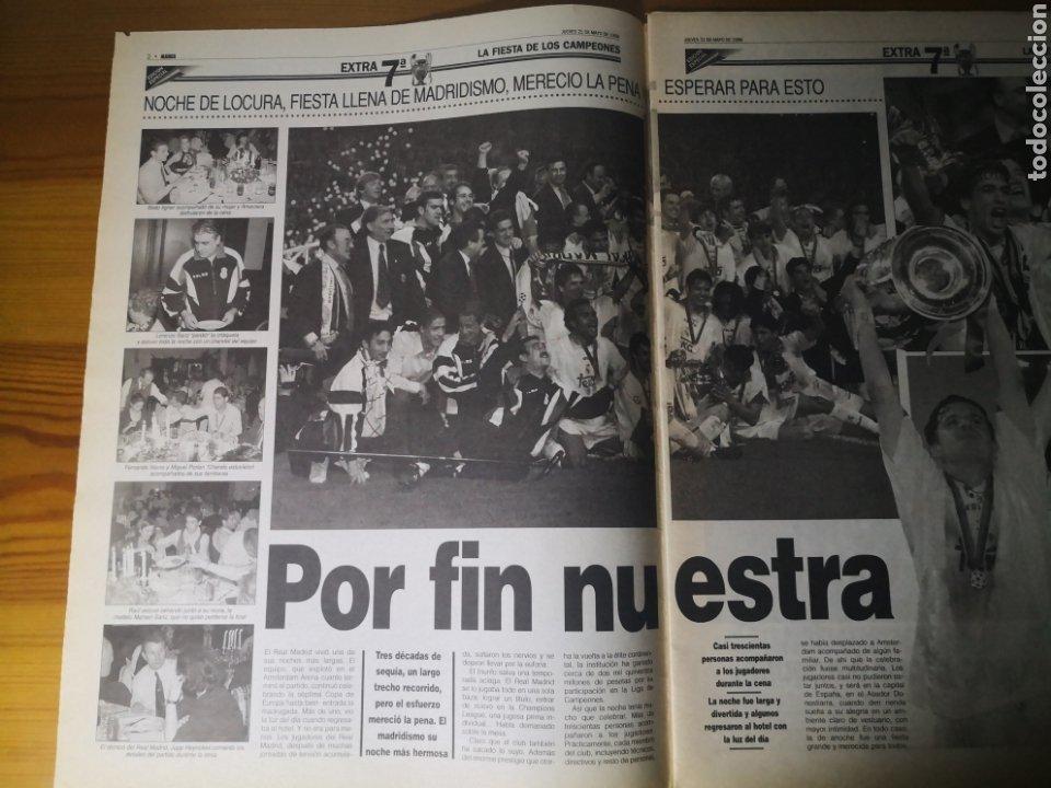 Coleccionismo deportivo: HISTÓRICO DIARIO MARCA HEROES DE LA SÉPTIMA REAL MADRID 21 MAYO 1998 - Foto 5 - 195060181