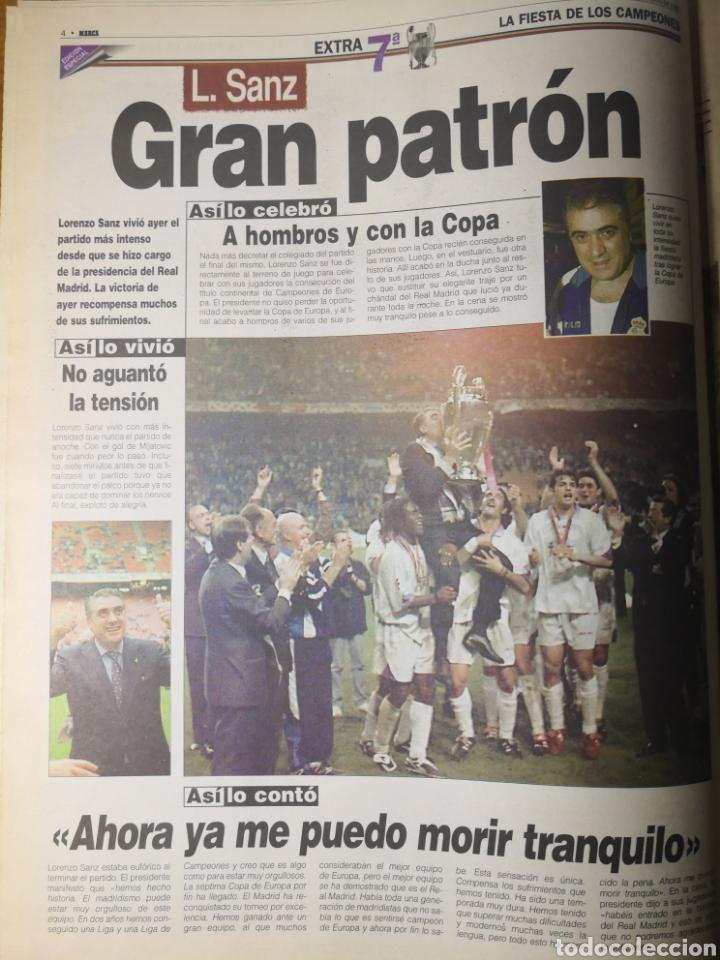 Coleccionismo deportivo: HISTÓRICO DIARIO MARCA HEROES DE LA SÉPTIMA REAL MADRID 21 MAYO 1998 - Foto 6 - 195060181