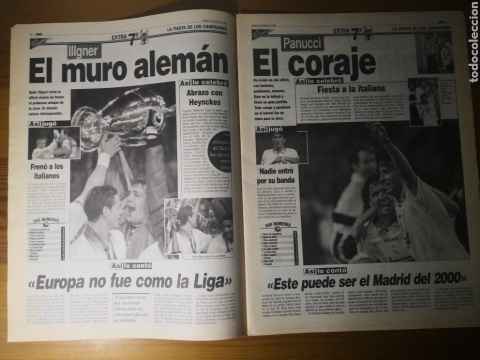Coleccionismo deportivo: HISTÓRICO DIARIO MARCA HEROES DE LA SÉPTIMA REAL MADRID 21 MAYO 1998 - Foto 8 - 195060181