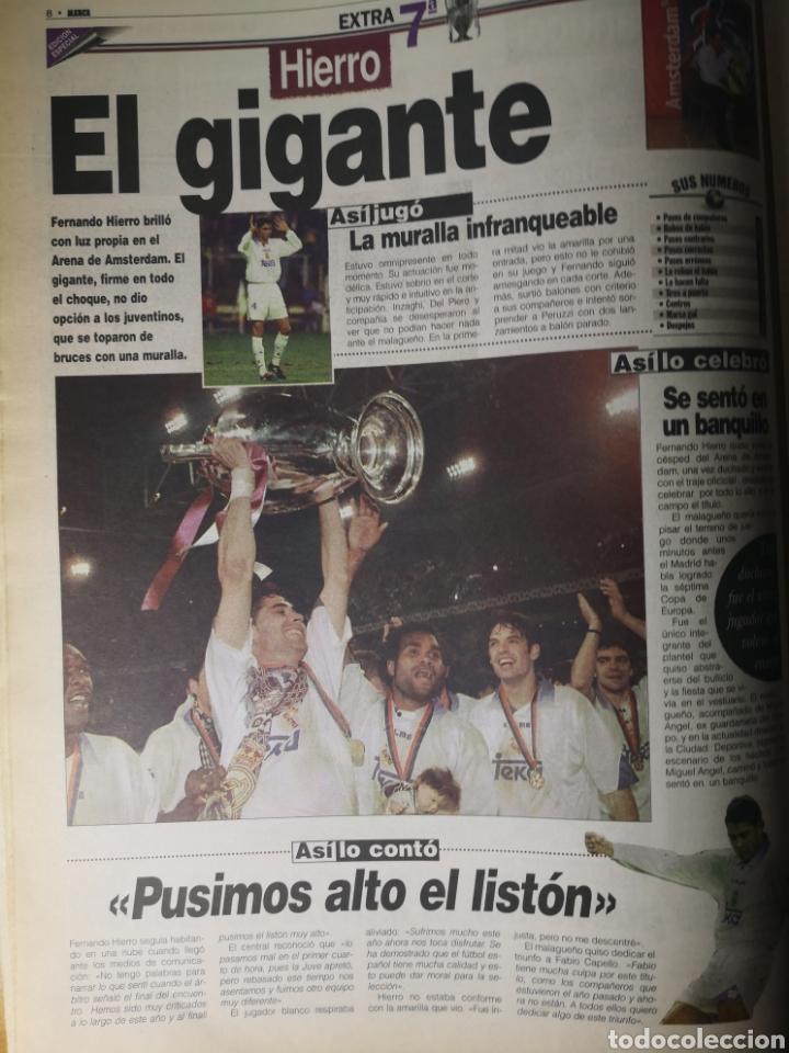 Coleccionismo deportivo: HISTÓRICO DIARIO MARCA HEROES DE LA SÉPTIMA REAL MADRID 21 MAYO 1998 - Foto 9 - 195060181