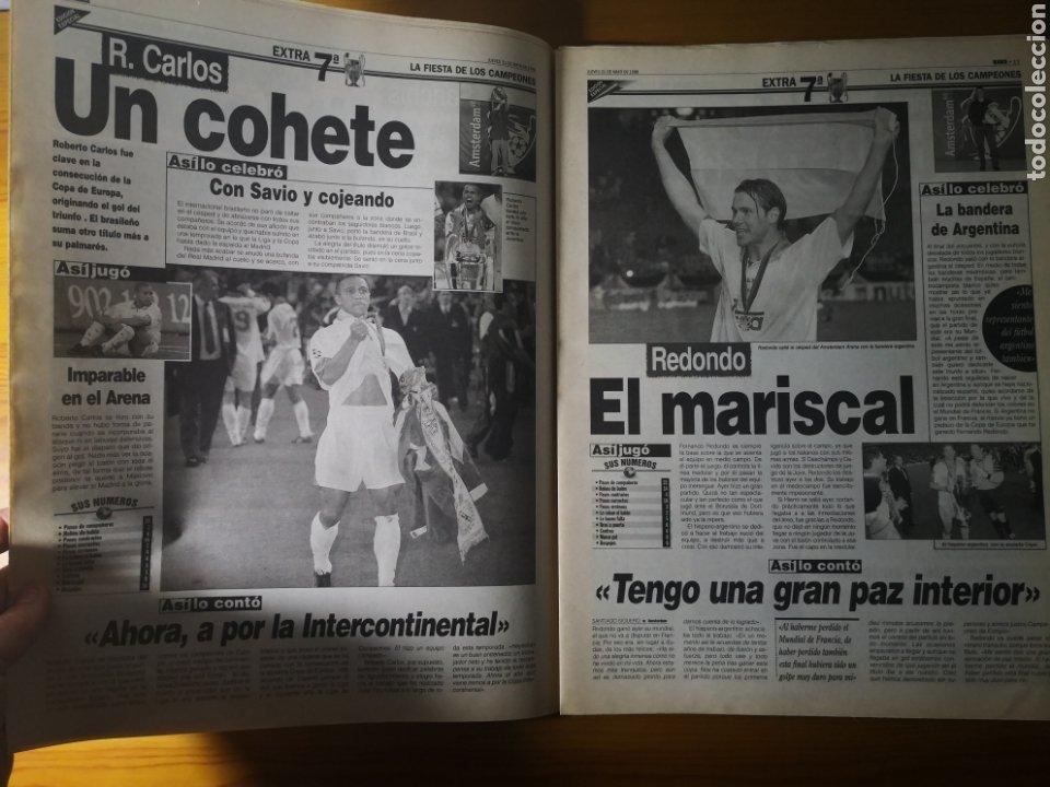 Coleccionismo deportivo: HISTÓRICO DIARIO MARCA HEROES DE LA SÉPTIMA REAL MADRID 21 MAYO 1998 - Foto 11 - 195060181