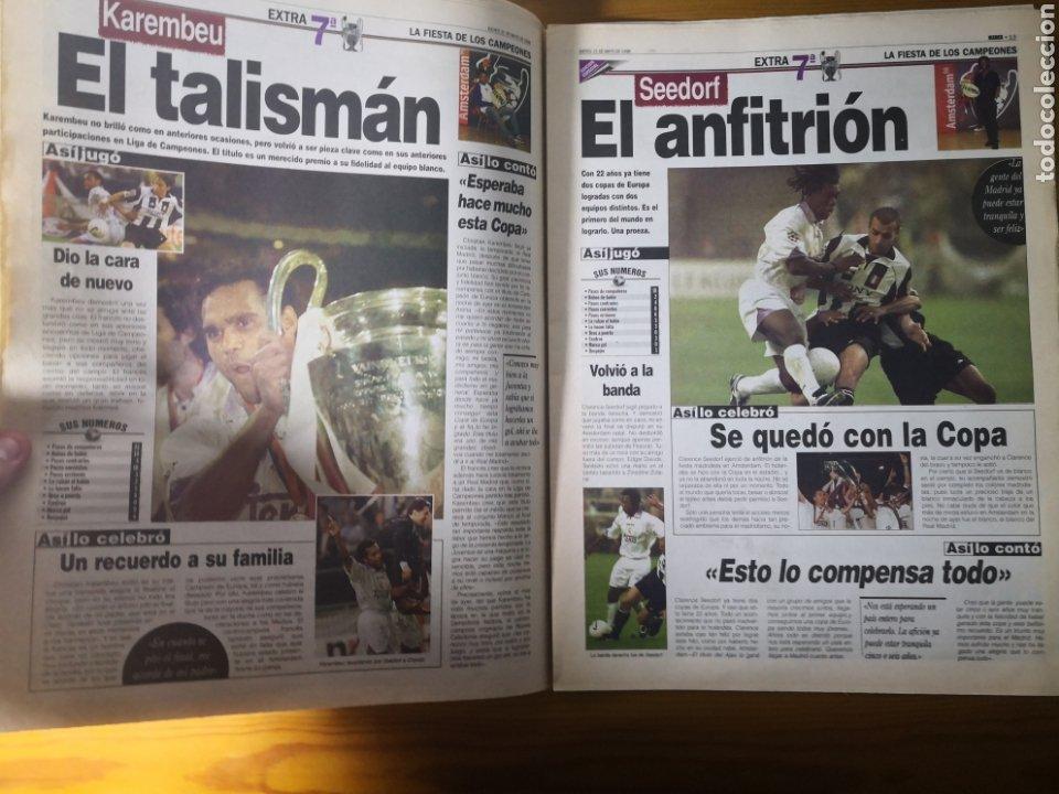 Coleccionismo deportivo: HISTÓRICO DIARIO MARCA HEROES DE LA SÉPTIMA REAL MADRID 21 MAYO 1998 - Foto 12 - 195060181