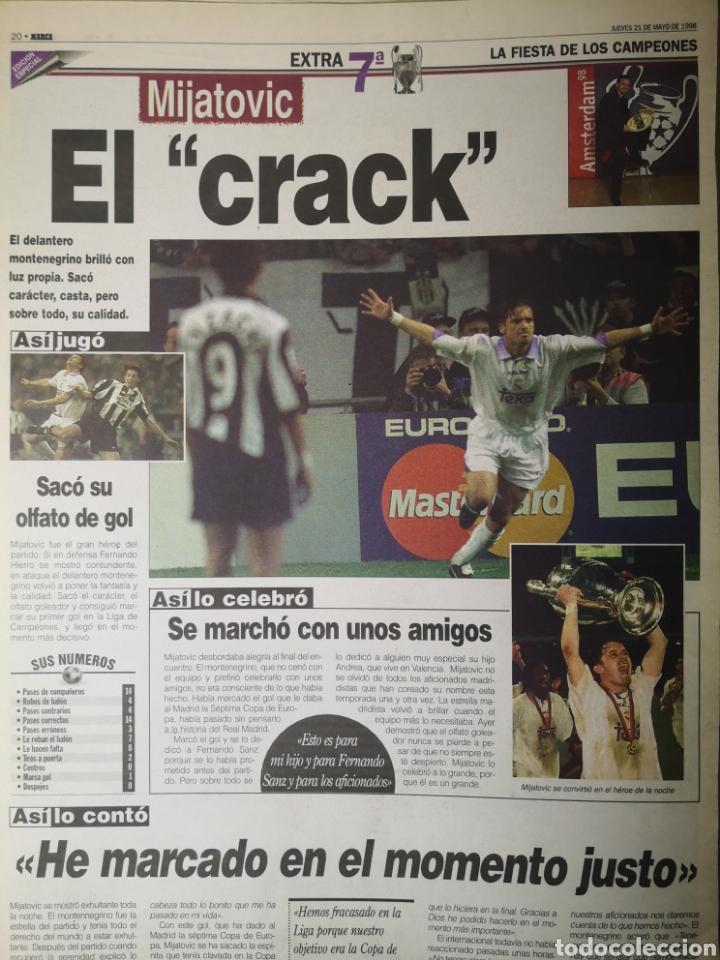 Coleccionismo deportivo: HISTÓRICO DIARIO MARCA HEROES DE LA SÉPTIMA REAL MADRID 21 MAYO 1998 - Foto 13 - 195060181