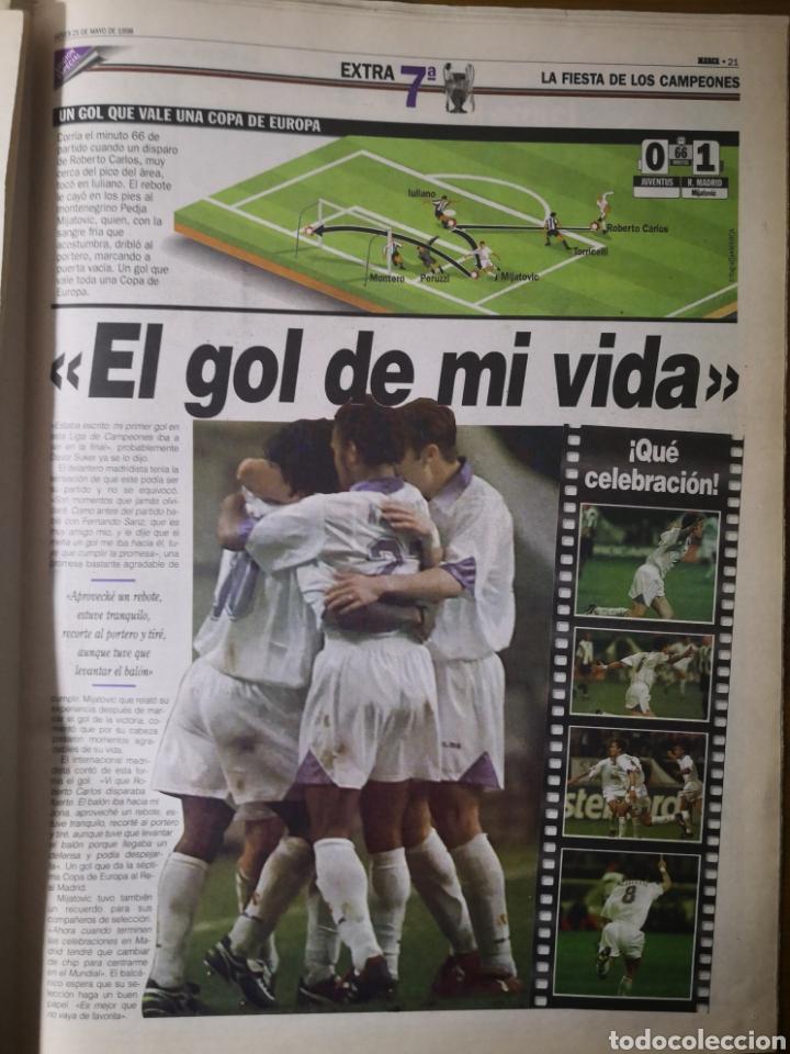 Coleccionismo deportivo: HISTÓRICO DIARIO MARCA HEROES DE LA SÉPTIMA REAL MADRID 21 MAYO 1998 - Foto 14 - 195060181