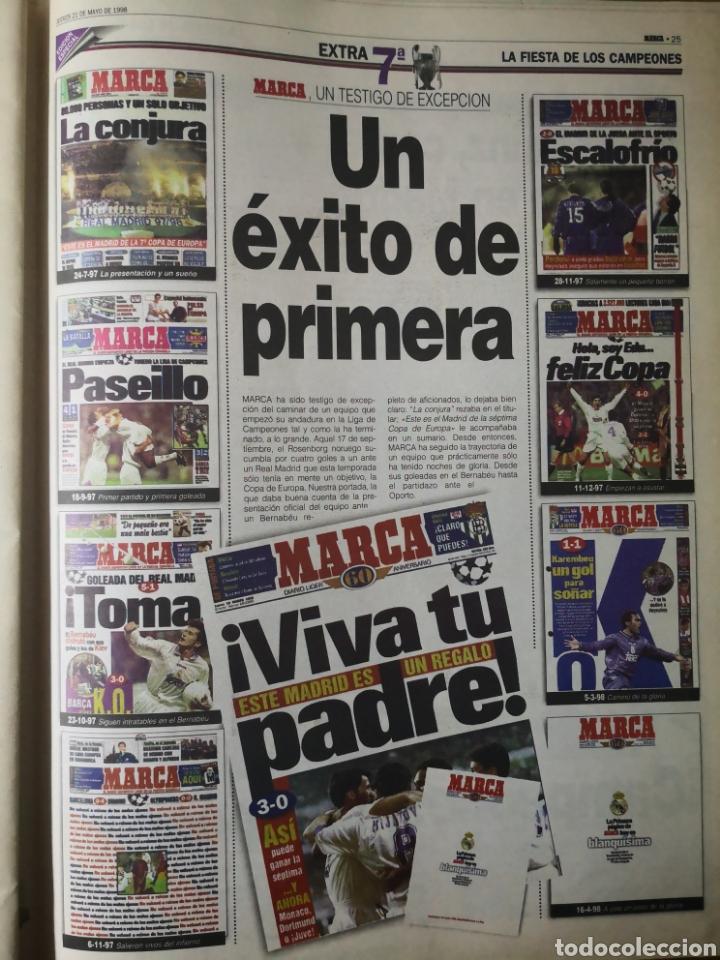Coleccionismo deportivo: HISTÓRICO DIARIO MARCA HEROES DE LA SÉPTIMA REAL MADRID 21 MAYO 1998 - Foto 15 - 195060181