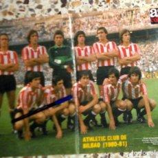 Coleccionismo deportivo: PÓSTER ANTIGUO AS COLOR - ATHLETIC CLUB BILBAO - TEMPORADA 1980-1981 80/81. FÚTBOL VINTAGE. SARABIA.. Lote 195148458