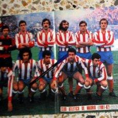 Coleccionismo deportivo: PÓSTER ANTIGUO AS COLOR - ATLÉTICO DE MADRID - TEMPORADA 1981-1982 81/82. FÚTBOL VINTAGE. MARCOS. Lote 195148546
