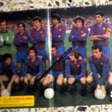 Coleccionismo deportivo: PÓSTER ANTIGUO AS COLOR - FC BARCELONA - TEMPORADA 1981-1982 81/82. FÚTBOL VINTAGE. QUINI. CAMPEÓN. Lote 195148637