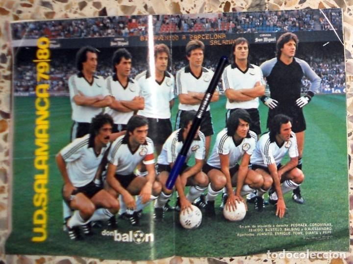 Coleccionismo deportivo: REVISTA DON BALON Nº214 Noviembre 1979 FÚTBOL VINTAGE - PÓSTER U.D.SALAMANCA 79/80 - DIARTE - Foto 2 - 195149045