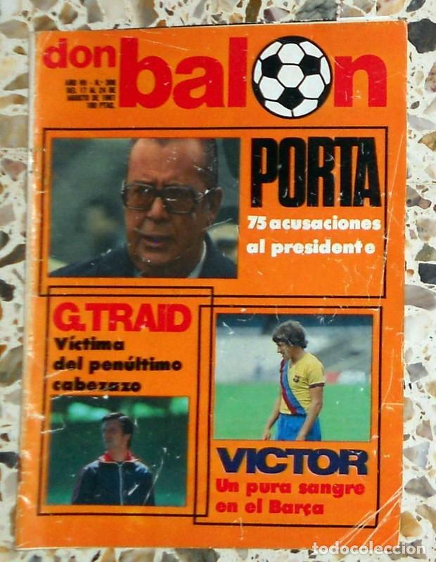 REVISTA DON BALON Nº306 AGOSTO 1981 FÚTBOL VINTAGE - PÓSTER CASTELLÓN 1981-1982 81/82 - (Coleccionismo Deportivo - Revistas y Periódicos - Don Balón)