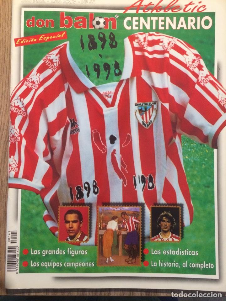 DON BALÓN, CENTENARIO ATHLETIC (1898 - 1998) (Coleccionismo Deportivo - Revistas y Periódicos - Don Balón)