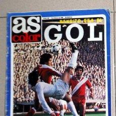 Coleccionismo deportivo: REVISTA AS COLOR Nº455 AÑO 1980 DOBLE PÓSTER LERIDA UD - CULTURAL DEPORTIVA LEONESA. FÚTBOL VINTAGE. Lote 195242143